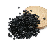 Wholesale Plastic Black Pearl Beads - Flatback Half Pearl Beads Black Color ABS Imitation Round Plastic Scrapbook Beads For DIY Jewelry Making