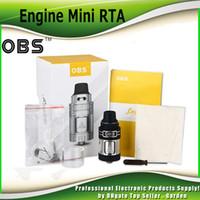 Wholesale Engine Mini - Original OBS Engine Mini RTA Atomizer Tank Authentic 3.5ml Capacity Side Filling 23mm with POM Drip Tip 100% genuine 2226023