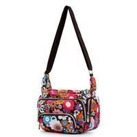 f101984b7412 Women Messenger Bags Print Floral Cross Body Shoulder Canvas Hobo Bag Nylon  Oxford Fabric Women s Handbag Woman Purses