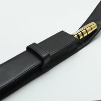кожаный чехол для авторучки оптовых-Новый высокое качество MB хорошее качество искусственная кожа Pen сумка подарочная сумка Pen Case черный карандаш сумка костюм для шариковая ручка фонтан Roller Ball Pen