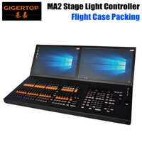 Wholesale code controller - TIPTOP MA2 Stage Light Controller Double LED Screen 4 Property Code wheel Double 15.6 Inch Widescreen Touch Display Flightcase