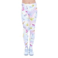 Wholesale Fun Gym - Women Leggings Holo Fun Lucky Leaf Digital 3D Print Girl Skinny Stretchy Comfortable Pants Lady Gym Fitness Capris Yoga Trousers (J43455)