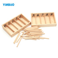 Wholesale Wooden Spindles - Wholesale- Montessori Educational Wooden Toys For Children Spindle Box With 45 Spindles Mathematics Learning and Spindle Rod Family Version