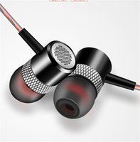 Wholesale High End Hifi Wholesaler - High-End Metal Stereo Earphones Noise Reduction HIFI 3.5MM In-Ear Earbuds Super Bass Headset Subwoofer with Mic
