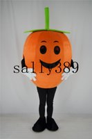 Wholesale Halloween Pumpkin Mascot - 2017 mascot figure of pumpkin yellow plants dress funny costumes novel Halloween props