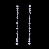 Wholesale Long Earring For Ears - NEW Fashion Style Ear Stud Long Zirconia Earrings Sterling Silver 925 Sticks Studs Hot Sale Jewelry High Quality Dangle Earrings for Women