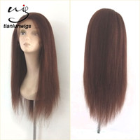 Wholesale Yaki Wig 16 Inches - china manufacturer wholesale 18 inch yaki straight glueless full lace brazil human hair wig small head wig hair lace front