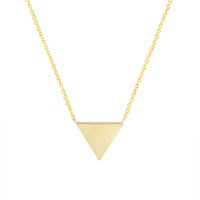 Wholesale Triangle Necklace Pendant Men - Wholesale 10Pcs lot Hot Sell 2017 Minimalist Stainless Steel Jewelry Pendant Geometric Triangle Gold Chains Statement Necklace For Women Men