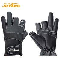 Wholesale JUYANG Cut Finger Anti Slip Fishing Gloves Waterproof Hunting Skidproof Gloves