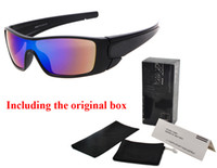 Wholesale black purple eyeglass frames resale online - Brand designer sunglasses men women UV400 goggles cycling sports sunglass dazzling eyeglass men s reflective coating sun glasses with box