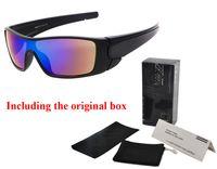 gafas para ciclismo al por mayor-Diseñador de la marca gafas de sol hombres mujeres UV400 gafas ciclismo deportes gafas de sol deslumbrantes gafas de sol de recubrimiento reflectante para hombres con caja