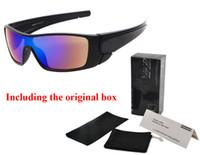 óculos de sol masculinos venda por atacado-Marca designer óculos de sol das mulheres dos homens UV400 óculos de ciclismo esportes óculos de sol deslumbrante óculos de revestimento reflexivo dos homens óculos de sol com caixa