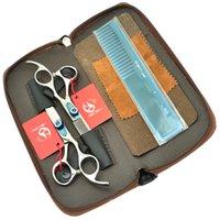 profesyonel saç kesme makası setleri toptan satış-6.0 Inç MeiSha Berber Makas Seti Profesyonel Kuaförlük Makas Tesouras JP440C Saç Kesme Inceltme Makası Sıcak, HA0249