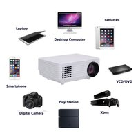 Wholesale Worldwide Free Tv - Wholesale-Free Shipping To Worldwide LED Home Projector 800*480 Support TV RED BLUE 3D 1080P Projector With USB HDMI VGA Full
