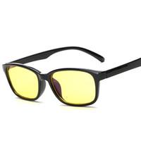 anti computador de fadiga venda por atacado-Anti-Fadiga Gaming Glasses Óculos Anti-Raios Resistentes à Radiação Óculos de Computador Preto / Vermelho / Fosco Preto / Preto Transparente 12 Pçs / lote