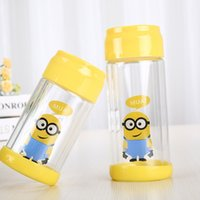 Wholesale Male Cup - Double Layer Glass Transparent and Heat Resistant Portable Water Bottle, Creative Filter Cup, Sports Cup, Male and Female Cartoon cup