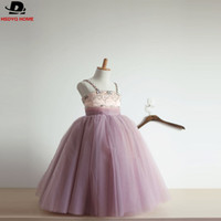 Wholesale Shop Girls Pageant Dresses - Real Photo Cheap Flower Girl dresses Zipper Back Beaded Birthday Girls Pageant Gowns 2017 Vestido da Menina Ready to shop