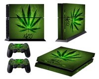 Wholesale Green Leaf Sticker - Front&Back PVC Skin Sticker dustproof waterproof Protection Decor Cover For Playstation 4 PS4 Controller PS 4-Green Leaf Pattern