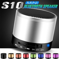 Wholesale Mini Logo Box - S10 Bluetooth Speaker Outdoor Speakers Handfree Mic Stereo Portable Speakers TF Card Call Function DHL Free Shipping No Logo In Retail Box