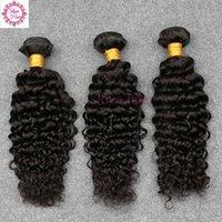 ingrosso i capelli brasiliani di qualità si intrecciano-100% non trasformati capelli vergini brasiliani tessuto capelli ricci profondi fasci 3 pezzi migliore qualità cucire estensioni dei capelli trama remy