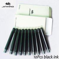 Wholesale Wholesale Fountain Pen Ink - 10Pcs Jinhao Schneider baoer Fountain Pen Ink High Quality Office School Supplies pen refill Black   Blue ink refills