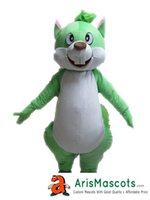 Wholesale Squirrel Mascot Costumes - New Lovely Green Squirrel mascot outfit Animal mascots fancy dress costumes advertising mascots carnival party dress