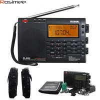 Wholesale Vhf Receiver - Wholesale-100% Original TECSUN PL-660 Radio PLL SSB VHF AIR Band Radio Receiver FM MW SW LW Radio Multiband Dual Conversion TECSUN PL660