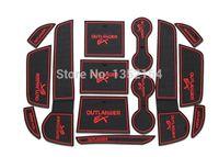 Wholesale Discs Films - Exterior Accessories Car Tax Disc Holders Auto anti-slip cup mat non slip door gate pad for mitsubishi outlander 2013 2014 2015 2016,