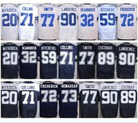 Remolque # 72 Chris Jones Jersey Niza # 32 Orlando Scandrick # 59 Anthony Hitchens # 73 Larry Allen # 89 Gavin Escobar Azul Blanco Acción de Gracias
