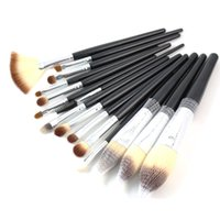 Wholesale High Quality Hair Products - Professional Makeup Brushes Set 15pcs High Quality Makeup Tools Kit Black Cosmetics Kit Make Up Brush Beauty Products 15 pcs