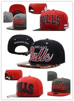 Wholesale Grey Bulls Snapback - Top Quality wholesale Newest Brand Hip Hop Bulls Gorras Snapback Fashion Adjustable Basketball Baseball Cap Hat Bones Chicago Free Shipping
