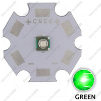 Wholesale High Power Led Pcb - Wholesale- 10PCS Cree XLamp XP-E XPE Green Color 520-530NM 3W High Power LED Light Emitter Diode on 8mm 12mm 14mm 16mm 20mm PCB Heatsink