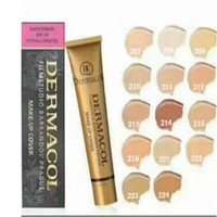 Wholesale NEW SHOP OFFER BEST TO YOU Dermacol DC concealer makeup Skin foundation Base Cover Extreme Covering Foundation Hypoallergenic Waterproof