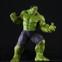 Wholesale Top Toy Figures - New PVC 10'' Big Marvel Avengers Hulk Action Figure Collectable Model Muscle Man Superman Crazy Toy Top Grade Gift DMX0036