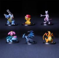Wholesale Toys Chart - Pokeball Pikachu Charizard Mewtwo Venusaur Blastoise Anime Figurine PVC Toys Action Chart