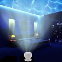 ledli projektör lambaları toptan satış-Ücretsiz Kargo Yeni Aurora Marster LED Gece Işığı Projektör Okyanus Daren Dalgalar Projektör Lambası Perakende Paketi Dahil Hoparlör Ile