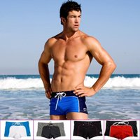 Wholesale Cool Swimming Trunks - E0359 Men's swimming trunks Beach Swim Cool Slim Sexy Swimwear Boxer shorts multicolor NEW