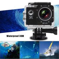 "Wholesale Zoom Camera Remote Control - 10PCS 4K Camera 2"" LCD Screen Wifi Action Camera 4X Zoom 16MP Sport Camera Waterproof 30M with Remote Control Multicolor"