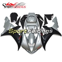 Wholesale Black Yamaha R1 - Complete Fairings For Yamaha YZF 1000 YZF R1 02 03 2002 2003 ABS Motorcycle Body Kit Bodywork Silver Black Matte Motorbike Cowlings Covers