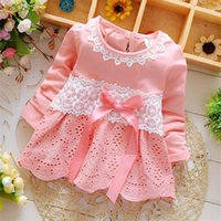 Wholesale Cheap Boutique Clothing - 2017 spring new girls dress Korean version of the bowknot children's skirt boutique children's clothing cheap children's clothing wholesale