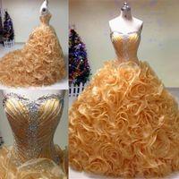 ingrosso 15 abito dolce principessa-Princess Ball Gown Quinceanera Dresses Vestidos 15 Anos Debuttanti con perline e cristalli Sweet 16 Birthday Prom Pageant Dresses