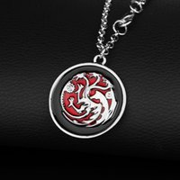 Game of Thrones Daenerys Targaryen Dragon Colliers Song Of Ice And Fire Bijoux Émaillage Dragon Pendant Fashion For Women Gift