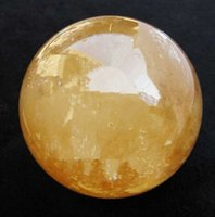 Wholesale Calcite Ball - SUIRONG---508+++ SAND Natural Citrine Calcite Quartz Crystal Sphere Ball Healing