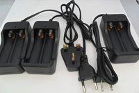 Wholesale Ion Sales - Hot sale 50 pcs 2 Slots AC 110V 220V Dual For 18650 Charger Charging 3.7V Rechargeable Li-Ion Battery Charger US EU UK Plug AU