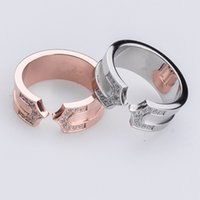 Wholesale Wedding Arrow - Wholesale fashion with zircon titanium ring ring and double arrow tip opening pull ring jewelry