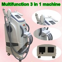 Wholesale Beauty Laser Removal Acne - OPT SHR + RF + Nd Yag laser beauty machine laser hair removal equipment SHR hair removal machine ndyag laser tattoos equipment