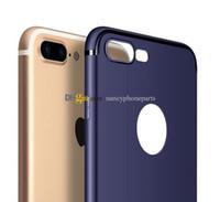 iphone geri koruyucusu mat toptan satış-Renkli Yumuşak Silikon Kılıf IÇIN iPhone 6 6 S 7 Artı Mat Arka TPU Kapak Telefon Geri Koruyucular 50 Adet DHL Ücretsiz