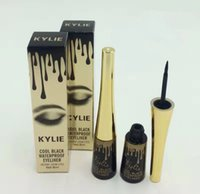 Wholesale Hot Cool Wear - Hot Makeup Kylie Eyeliner Cool Black Waterproof Eyeliner 8ml By Kylie Cosmetics High quality DHL Shipping