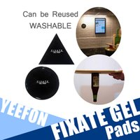 Wholesale Sticky Mobile Holder - Magical Super Powerful Reusable Strong Sticky Fixate Gel Pad Anti-Slip Silica Gel Pads 2 Pieses For Mobile Phone Holder