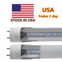 Wholesale Cree Led Retail - LED Tube Lights 4 ft 4 Feet 18W 22W LED Tubes Fixture 4ft Clear Cover G13 120V Bulbs Lighting Retail Wholesale